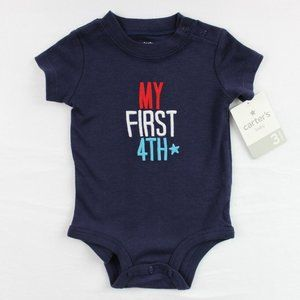 Carter's Baby Bodysuit 1st Fourth of July 3 Months